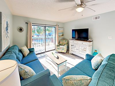 Photo for Steps to Beach! Remodeled 2BR w/ Private Balcony & Chic Kitchen