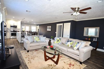 Open floor plan makes a great space for family and friends!