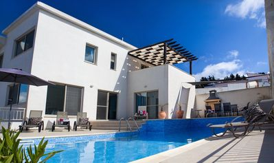Photo for Stylish Luxury Villa With Private Pool And Panoramic Views, family friendly.