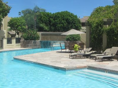 5000 sf pool with water fall