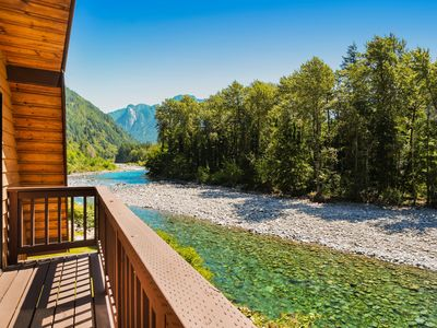 Photo for Lovely dog-friendly home on banks of the Skykomish river w/mountain views!