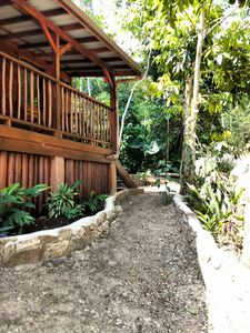 Pathway to our home for rent in Belize.