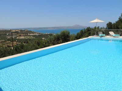 Photo for V. Private Modern 4/5 Bedroom Villa w/ Infinity Pool, & Games Room, Nr Almyrida