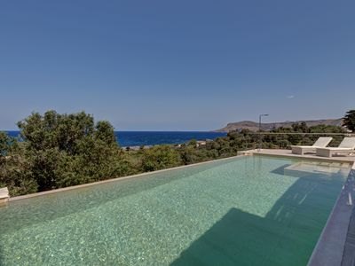 Photo for Amazing stone villa with jacuzzi and unparalleled sea view