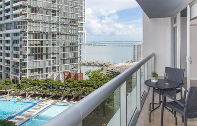 Chill out and enjoy the views of the Bay, the Miami River or the city.