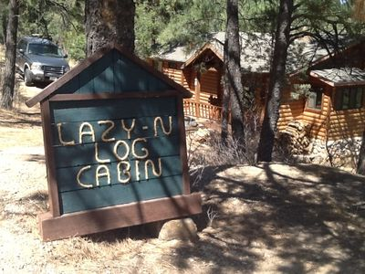 Photo for PEACEFUL, EASY FEELING @ LAZY N! HOT TUB, DECKS, FIREPLACE, GREAT LOCATION