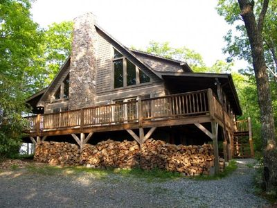 Photo for Mountain Masterpeace 3 Bedroom 2.5 Bath Log Cabin in Banner Elk NC