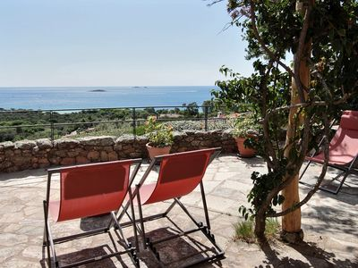 Photo for Charming villa 15 minutes walk from the Palombaggia Beach, 6 bedrooms, swimming pool