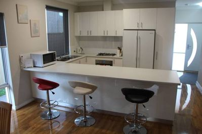 Modern kitchen with breakfast bar