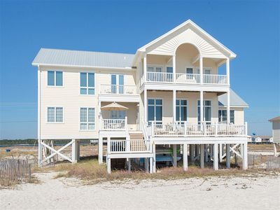Photo for Wastin Time Luxury 6BR, 5.5 BA Home on West Beach with Gulf-Front Decks