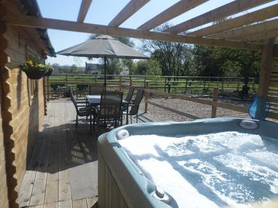 Very private decking and hot tub