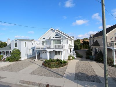 Photo for JUST 2 short blocks to beach. Open Space living with Kitchen, relax on Spacious Decks through 2 sliding glass doors.