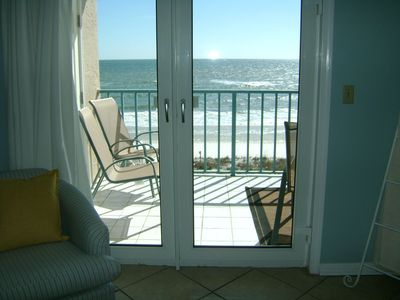 Great view of water and beach from living area