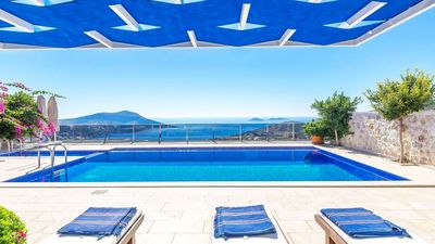 Photo for Spacious 5 bedroom villa with stunning sea views and private sauna