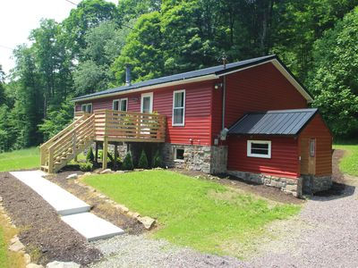 Photo for Private Year Round Getaway--Close to Ski Resorts, Fallingwater--with Hot Tub!