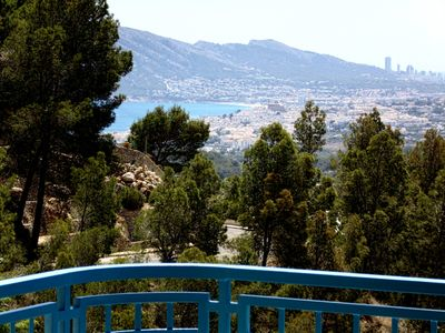 Photo for Looking over the sea from Altea till Benidorm in the daytime and at night