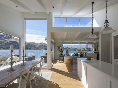 Photo for NEW:  Lakeside + Mountain Views, Stylish Home, 3.5kms to Remarkables Ski field