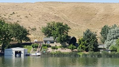 View of the home overlooking the Snake River with BLB land surrounding one side.