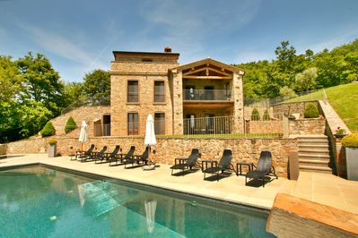 Casa Padrone has a large and deep swimming pool.