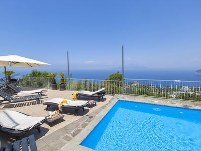 Photo for Casa Augusta A with Mini Pool, Sea View, Parking and Private Terraces