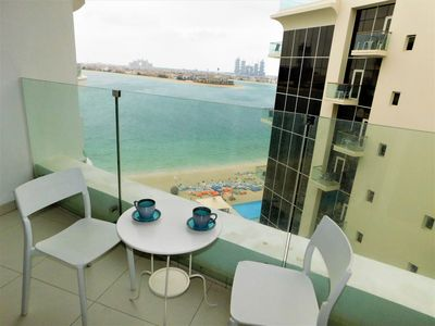 Photo for Beachfront 1 BR apt on the Palm Jumeirah, Sea View