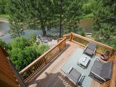 Photo for Beautiful water front cabin sleeps four. Just 30 minutes from Missoula airport.