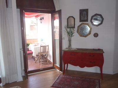 Photo for Venice Penthouse in Rialto with terrace and canal view wifi air conditioning