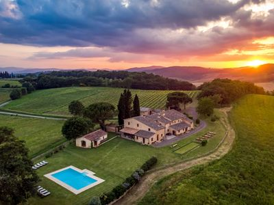 Photo for Podere Maiano - Private Pool Villa with 9 Bdrs and Spa