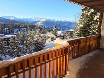 Photo for Apartment sleeps 8 - 85m2 - fully equipped - Full Center of Crans
