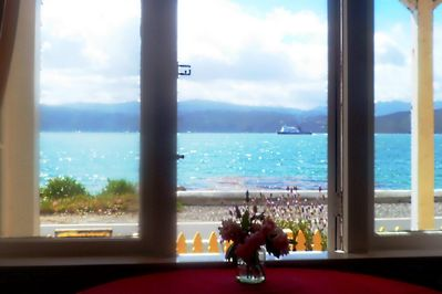 View from Karaka Bay Beach Apartment
