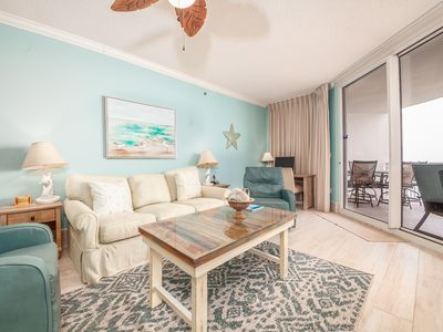 Photo for Bright, Coastal Condo w/ Steps To The Beach, Beach Service Included