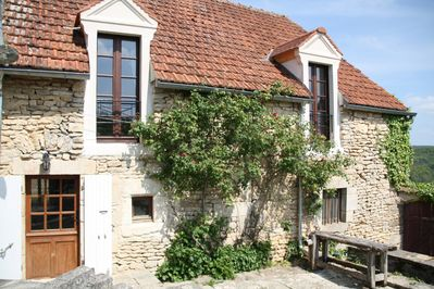 French doors in Remparts and Convent bedrooms overlooking the garden