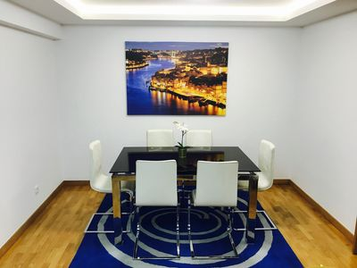 Photo for Modern and elegant one bedroom apartment a footstep from Porto attractions.