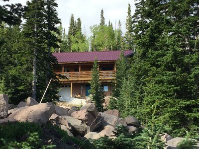 Photo for Log Cabin Retreat Near Skiing, Biking, Hiking & National Parks, WI-FI, 4BR +LOFT