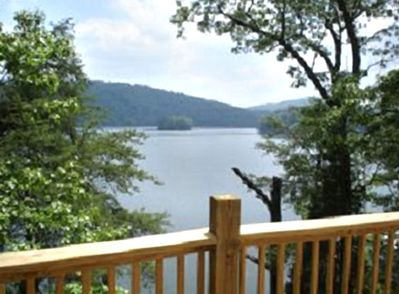 This is a view of Norris Lake off the patio.