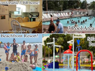 Photo for 3 BR home w/yard in Beach Front Resort / 3 pools / Lots of Adult/Kid activities