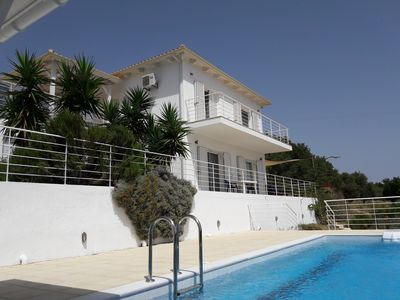 Photo for 3 bedroom holiday villa and pool in private grounds, southwest Kefalonia.