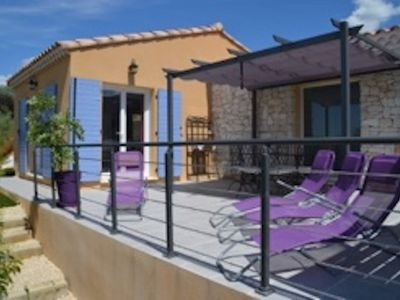 Photo for Detached house with outdoor spa, 2 km from Allègre les Fumades