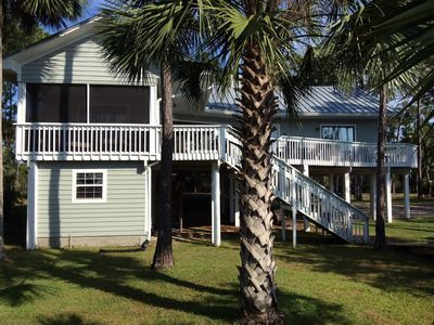 Photo for Private 2.5 acre Bayfront. Kayak Launch + dock/boat slip. April open @ $1398/wk