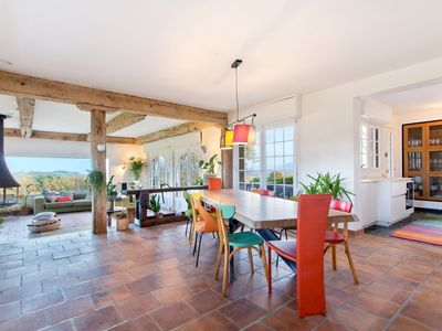 Photo for Etche Churria: Large villa with a sublime view of the Rhune and the ocean.