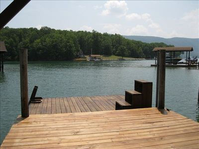 Dock and floater with swim ladder, great views