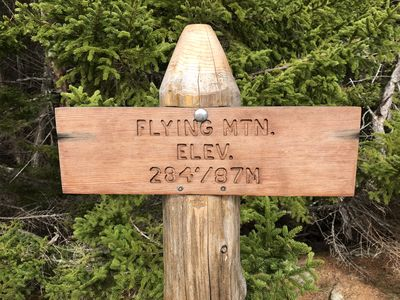 1/2 mile walk to the Flying Mtn. Trail head