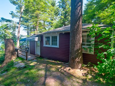 Photo for The Killam Cottage - Cozy Lakefront Cottage - 2 BR, Sleeps 4 - Boat Dock & A/C