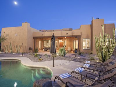 Photo for Stylish Santa Fe Home with Private Tennis/Basketball Court, Pool, Spa, BBQ