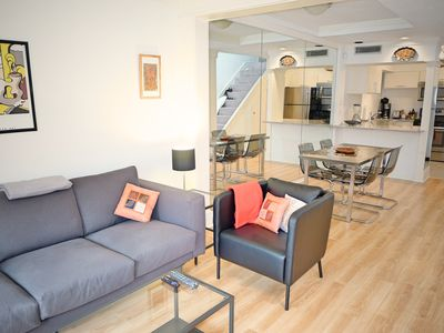 Photo for Incredible Modern and Bright 1 Bed Condo! Patio, Parking, & Great Amenities
