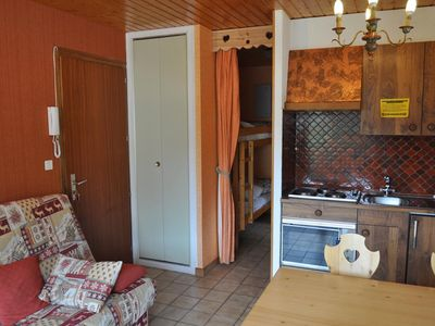 "Photo for Residence ""Le Caribou"" located in the area of Contamines, near the Crêt Béni ski area. A few steps a"
