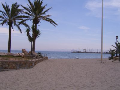 A beach on the Mar Menor