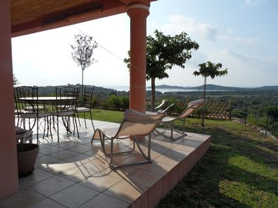 Photo for conditioned villa with 3 chs + 2sdb stunning views of the Gulf of Pinarello