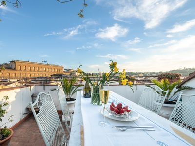 Photo for Vacation apartment Pitti Luxury Terrace in Florence, a terrace overlooking Florence