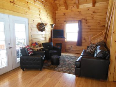 Photo for Hocking Hills Secluded 2 Bedroom Cabin Pet Friendly - 4 miles to Old Mans Cave